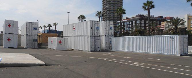 Contenedor Cruz Roja