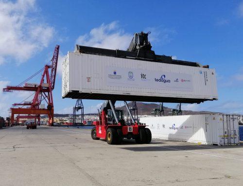 Boluda Shipping colabora en el traslado de dos desaladoras, por mar y por tierra, para el riego de cultivos en La Palma